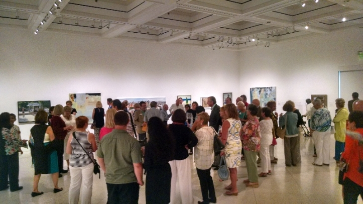 Busy opening reception for the National Art Encounter 2015