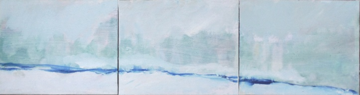 January Snow Trees triptych by Alice Louise Karow